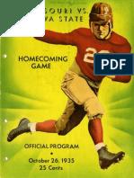 1935 Homecoming Football Program