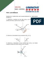 exercicios estatica dos sólidos