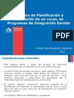 Registro de Planificicación y Evaluación PIE