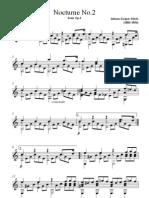 Johann Kaspar Mertz Nocturne A Minor Without Fingering