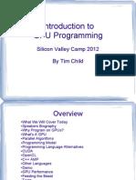 Intro to GPU Programming