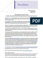 Press Release on CCUSA Lenten mission 4.7.11