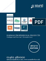 Sound Technology Harman Pro UK Catalogue and Retail Price List