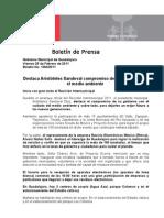 25-02-2011 Destaca Aristóteles Sandoval compromiso de su gobierno con el medio ambiente