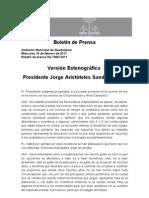 25-02-2011 Versión Estenográfica JORGE ARISTOTELES SANDOVAL