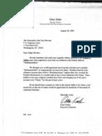 Omar Kader 1985 Letter to Justice Stevens