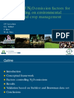 2010.Estimation of N2O Emission Factors for Soils Depending on Environmental Conditions and Crop Management