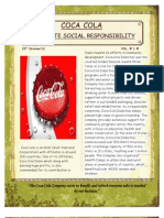 CSR Activities of Coca Cola