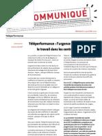 Communiqué CGT-FAPT - Teleperformance