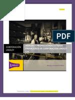 Analisis y Proyeccion de Estados Financieros- Corporacion Lindley