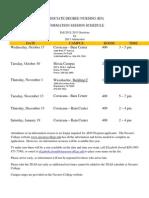 Navarro College ADN RN Admission Information Session Dates