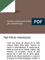 Analiza Financiare Per Marrje Te Vendimeve Financiare