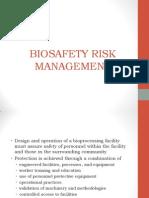 3-2 Biosafety Risk Management