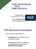 Alteraciones psicológicas en el Síndrome Postpolio. Dr. Luis Muñoz Becerra