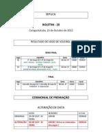 BOLETIM Nº 20 - 1ª Copa dos Servidores - 25 de outubro_15h42