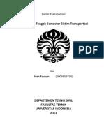 Sistrans UTS - Ivan Fauzan - 1006659716