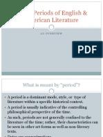 Major Periods of English American Literature