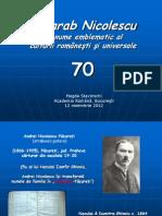Magda Stavinschi, Basarab Nicolescu - un nume emblematic al culturii româneşti şi universale