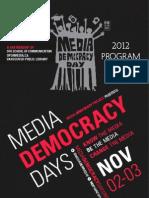 Media Democracy Days 2012 Program Guide