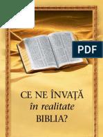 Ce ne învaţă în realitate Biblia