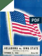1942 Homecoming Football Program