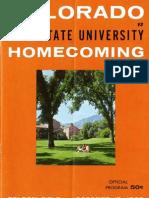 1963 Homecoming Football Program