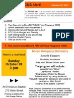 FOCUS Alert - October 25, 2012