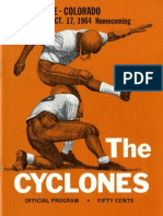1964 Homecoming Football Program