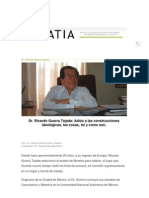 Dr. Ricardo Guerra Entrevista con Silvia Patricia Pérez Sabino