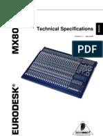 MX8000A Block Diagram Specs