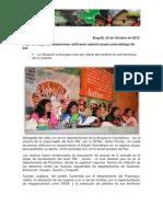 Mujeres Indígenas Amazónicas ratificaron espacio propio para dialogo de paz