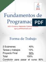 Fundamentos Programacion Java unidad 1y2
