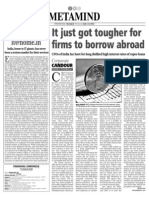 Borrowing Abroad Tougher