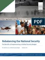Rebalancing Our National Security