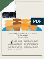 Sergia. Articulo.importancia de Investigacion de Mercado