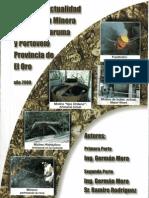 Historia y Actualidad  explotación minera Cantones Zaruma y Portevelo Provincia de El Oro