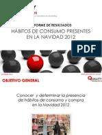 Hábitos de consumo presentes en la Navidad 2012