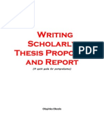 Writing Scholarly Thesis Proposal and Report_Okeola Olayinka