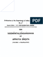 The Siddhantalesasangraha of Appayya Diksita