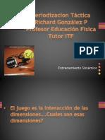 Richard González Presentación sobre Periodizacion Tactica Conferencia Regional BNP Paribas ITF Bolivia