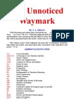 The Unnoticed Waymark, By J. A. Hiebert