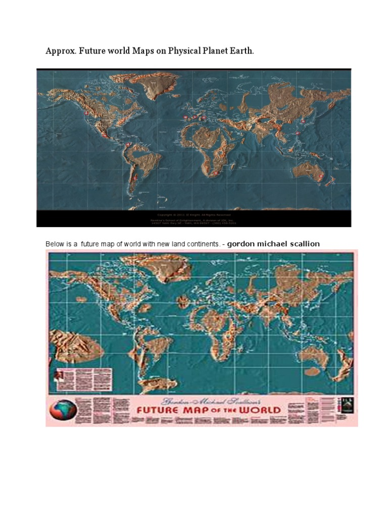 Future Map Of The World Gordon Michael Scallion.Approximate Future World Map Earth Earth Life Sciences