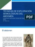 Técnicas de exploración semiológicas del abdomen