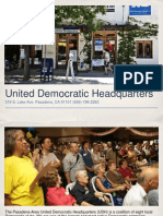 The United Democratic Headquarters in Pasadena, California