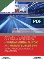 Hyundai Verna and Maruti SX4 Comparison using concepts of Micro Economics