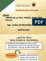 Origen de La Vida, Teorias. Evolucion. Celula - 2012