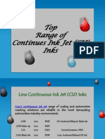 Top Range of Continues Ink Jet (CIJ) Inks