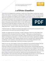 The Ascension of Peter Zumthor - NYTimes