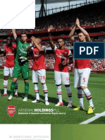 Arsenal FC, Annual Report 2012