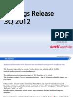 CheilWorldwide 3Q 2012 Eng Final